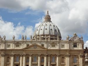 Vue de la coupole de la basilique St Pierre Rome