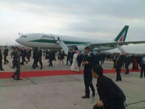Arrivée du Pape à Rio (22/7/2013)