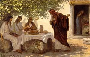 Dieu visite Abraham