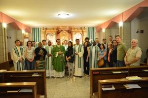 Après la messe au Collège Philippin