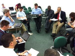 Equipe PUSC en réunion de travail