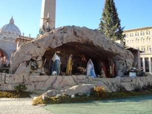 Presepe in Piazza San Pietro.(Roma)