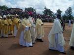 Début de la messe: Procession